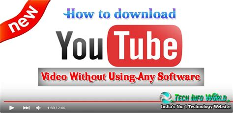 download youtube without software how to download youtube videos without any software
