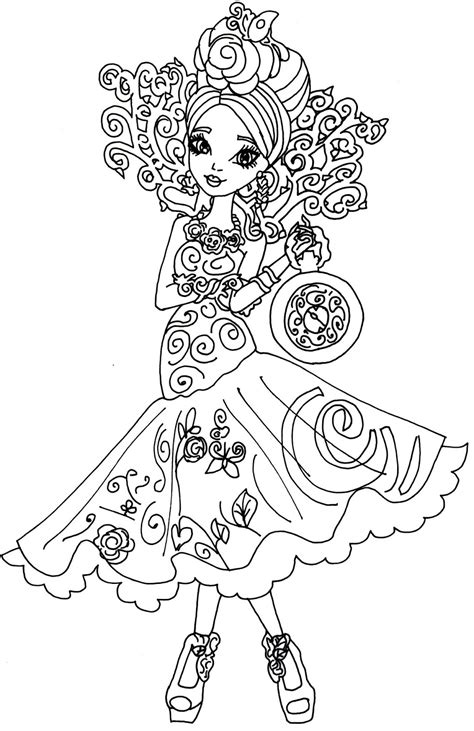 ever after high coloring pages ashlynn ella free printable ever after high coloring pages briar