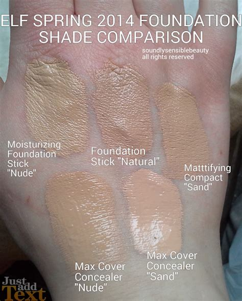 E L F Custom Compact With Mirror hd mattifying foundation review swatches of shades