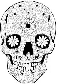 day of the dead skull coloring pages like