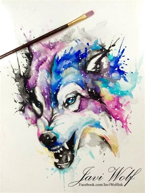 watercolor wolf tattoo designs watercolor wolf pintura de un servidor espero les guste