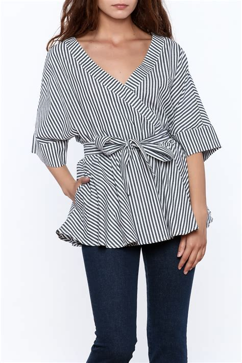 Kimono Top by Listicle Striped Kimono Top From Tennessee By Dogwood