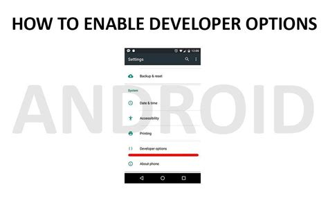android enable developer options how to enable developer options on android phones