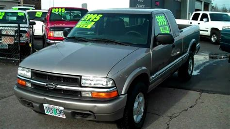 2001 chevrolet s10 2001 chevrolet s10 extended cab 4x4