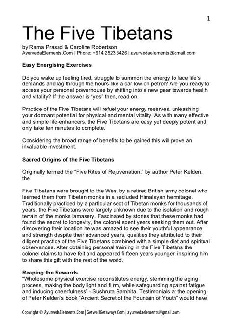 5 Tibetan Rites Detox Symptoms by Five Tibetans Rites