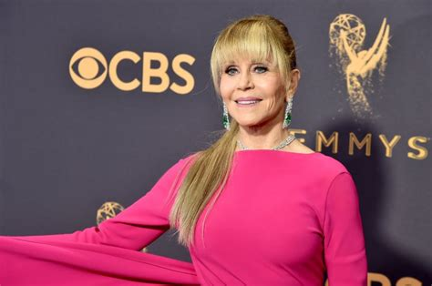 jane fonda jane fonda hits the emmys red carpet for a great moment