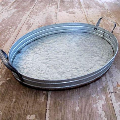 large galvanized tray  farmhouse kitchen galvanized