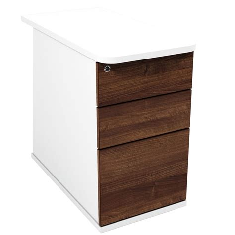 stylish contemporary desk high 3 drawer pedestal desk
