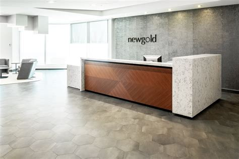 Corporate Reception Desk Custom White Quartz Corporate Office Reception Desk New Gold Inc Astound