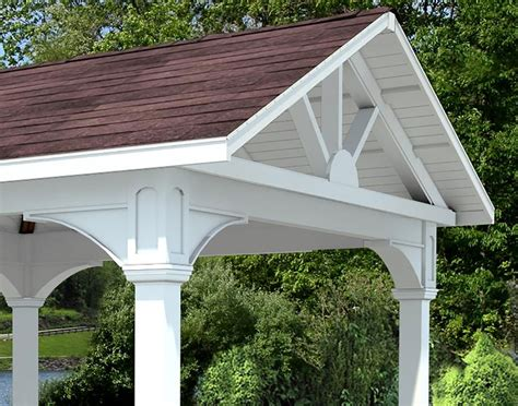 Gable Roof Gazebo Vinyl Gable Roof Open Rectangle Gazebos Gazebos By