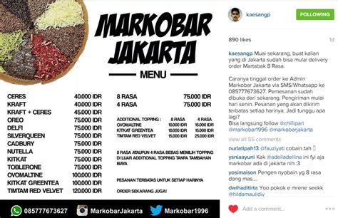 Harga Martabak Jakarta markobar martabak putra jokowi bisa delivery di jakarta