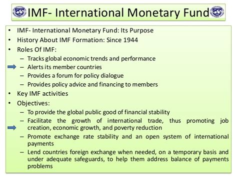 Imf Notes For Mba by Imf World Bank