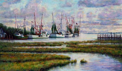 shem creek shrimp boats painting quot blue shrimp boats at shem creek quot original art