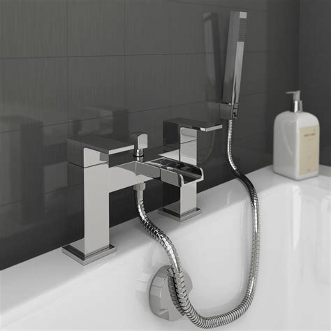 bath taps shower plaza waterfall bath shower mixer with shower kit chrome