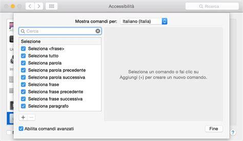 conto su di te testo come dettare testi al mac mediante un comando vocale