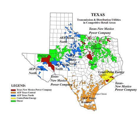 texas electric utility map utility companies in texas