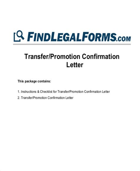 Promotion Letter Confirmation Letters In Pdf
