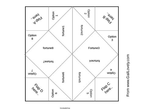 catcher template cootie catcher template 3 pdf format e database org