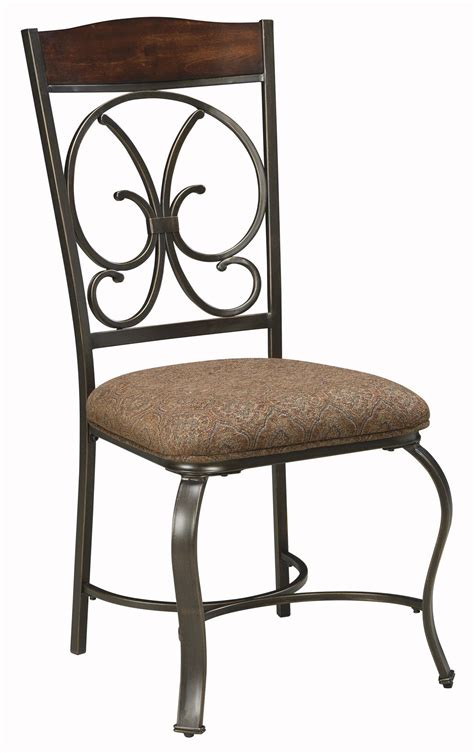Dining Side Chairs Upholstered Signature Design By Glambrey Dining Upholstered Side Chair With Metal Accents Wayside