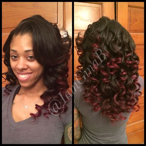 Versatile Sew In Weave With Sassy Mitchell Hair Styled By   versatile sew in weave with sassy mitchell hair styled by