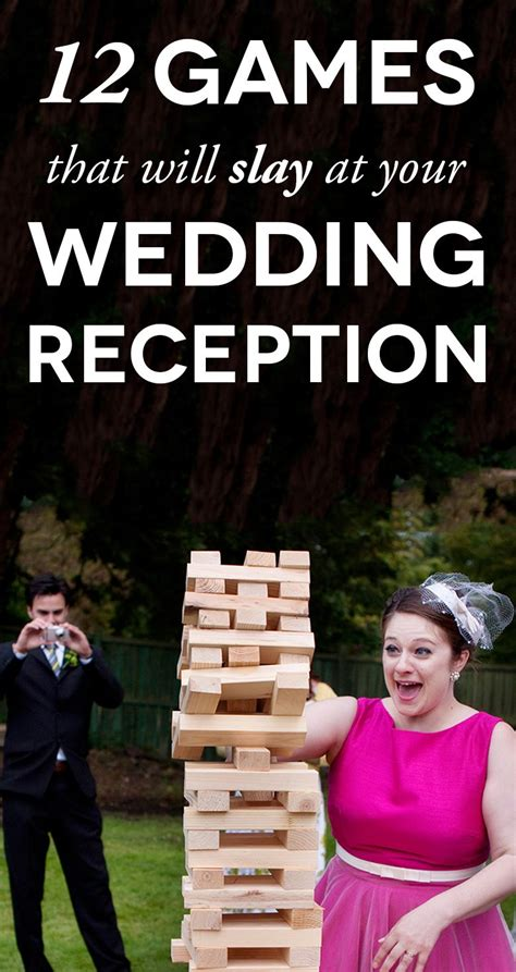 Hochzeit Spiele wedding to make your reception a practical wedding