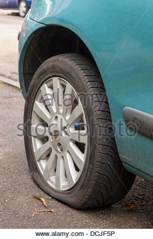 Melting Point Of Car Tires Puncture Punctured Car Tyre Tire With Sharp