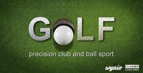 Golf Text Reveal After Effects Template Videohive 5280640 Ae Templates Videohive After Effects Text Reveal Template