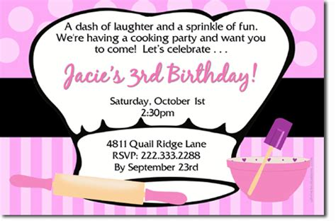 Cooking Chef Birthday Invitations Download Jpg Immediately Uprintinvitations Cards On Artfire Pered Chef Invitation Template