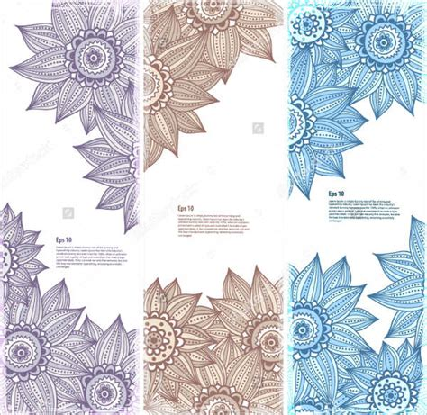 textiles templates 8 flower bookmark templates 9 free psd ai vector eps