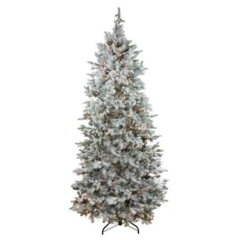 colorado spruce christmas tree lowes northlight 7 5 ft pre lit colorado spruce slim flocked artificial tree with 500