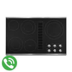 Electric Cooktop With Downdraft Kitchenaid 36 Quot Downdraft Electric Cooktop Stainless Steel