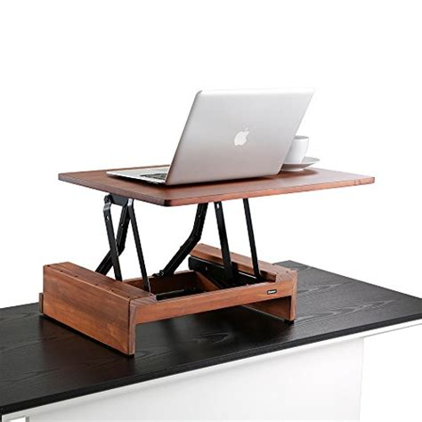 Convert Sitting Desk To Standing Desk Comix Standing Desk Height Adjustable Desk Converter Size 24 Quot X36 Quot Laptop Stand Up Desk