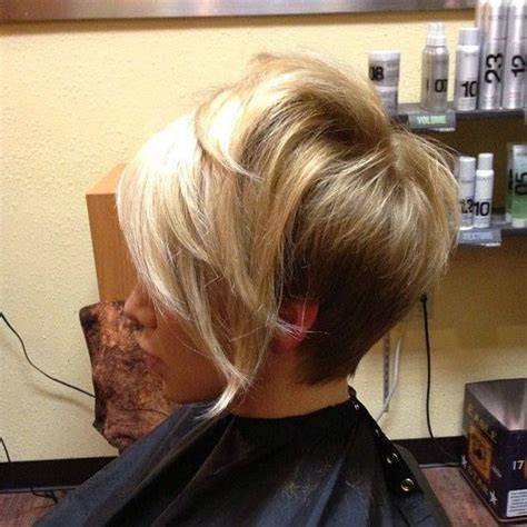 hair styles shorter in back longer in front with layers hairstyle long in front stacked short in back short