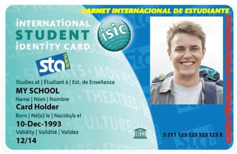 isic card template buy student discount card sta travel students