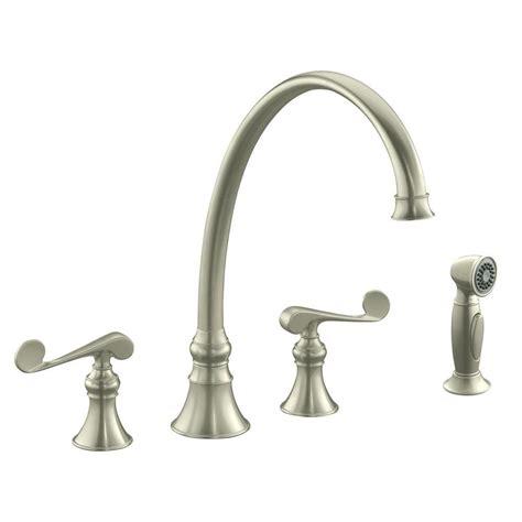 brushed bronze kitchen faucet kohler revival 2 handle standard kitchen faucet in vibrant