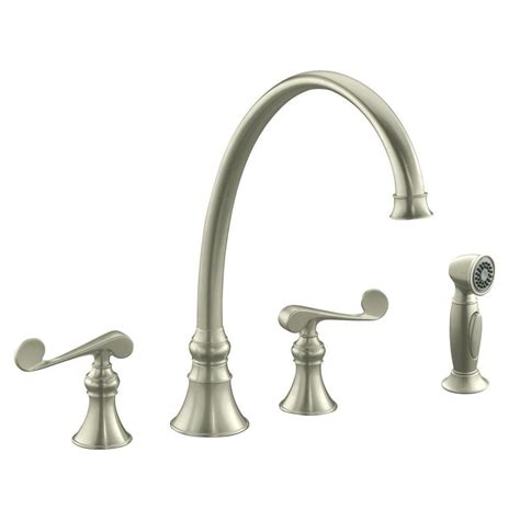 kohler revival 2 handle standard kitchen faucet in vibrant
