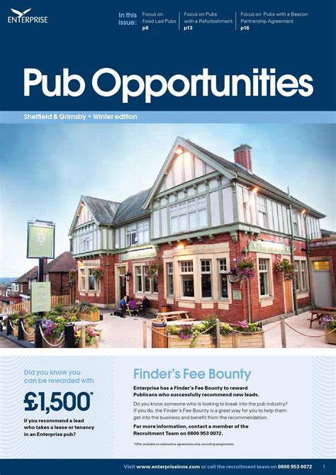 enterprise inns enterprise inns pub opportunities winter 15 sheffield and