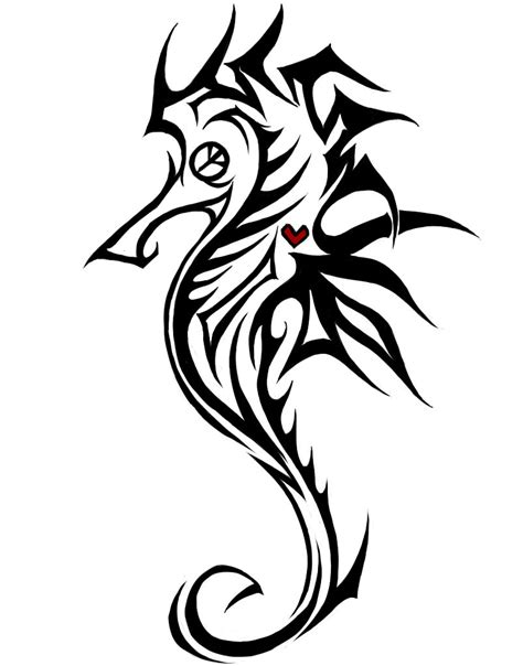 tribal seahorse tattoos seahorse images designs