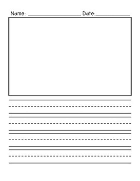 writing paper with picture box primary writing paper vertical with illustration box and