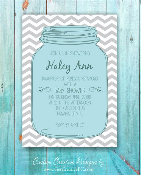 Jar Baby Shower Invitations by Jar Baby Shower Invitations Theruntime