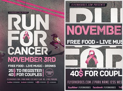 running flyer template run for the cure flyer template flyerheroes
