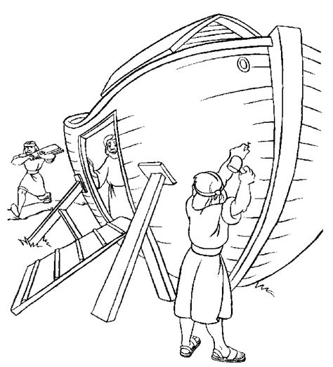 noah s ark build coloring page