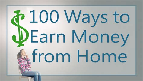 100 ways to earn money from home my income journey