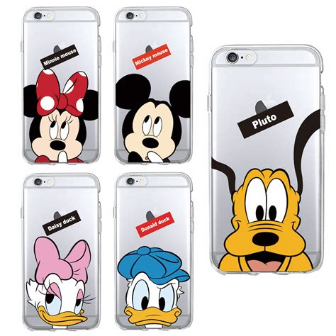 Disney Big Donald Softcase For Iphone 55s66s66s minnie mickey mouse donald duck pluto soft clear phone fundas for iphone 7 7plus