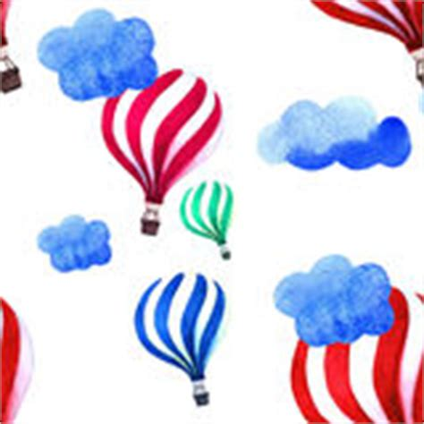 watercolor pattern with air balloons and clouds stock kids hand paint stock photos image 16111353