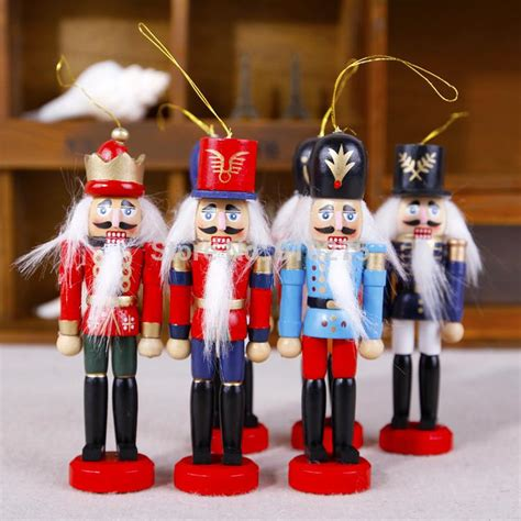 cheap 12cm wooden nutcracker walnuts soldiers band puppet dolls ornaments baby