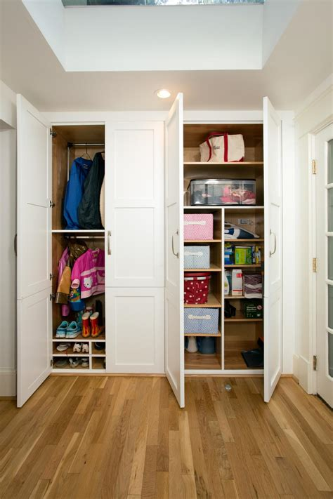Mudroom Closet Designs by Bifold Closet Doors Options And Replacement Hgtv