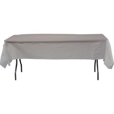 plastic table cover celina 54in x 108in heavy duty plastic table cover