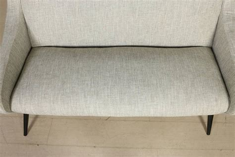 sofa foam for sale two seat sofa foam springs fabric stained wood vintage