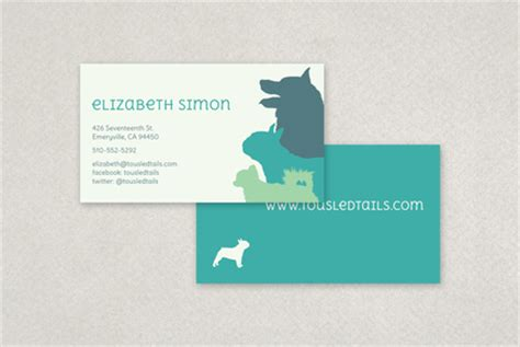 free pet grooming business card templates silhouette business card template inkd